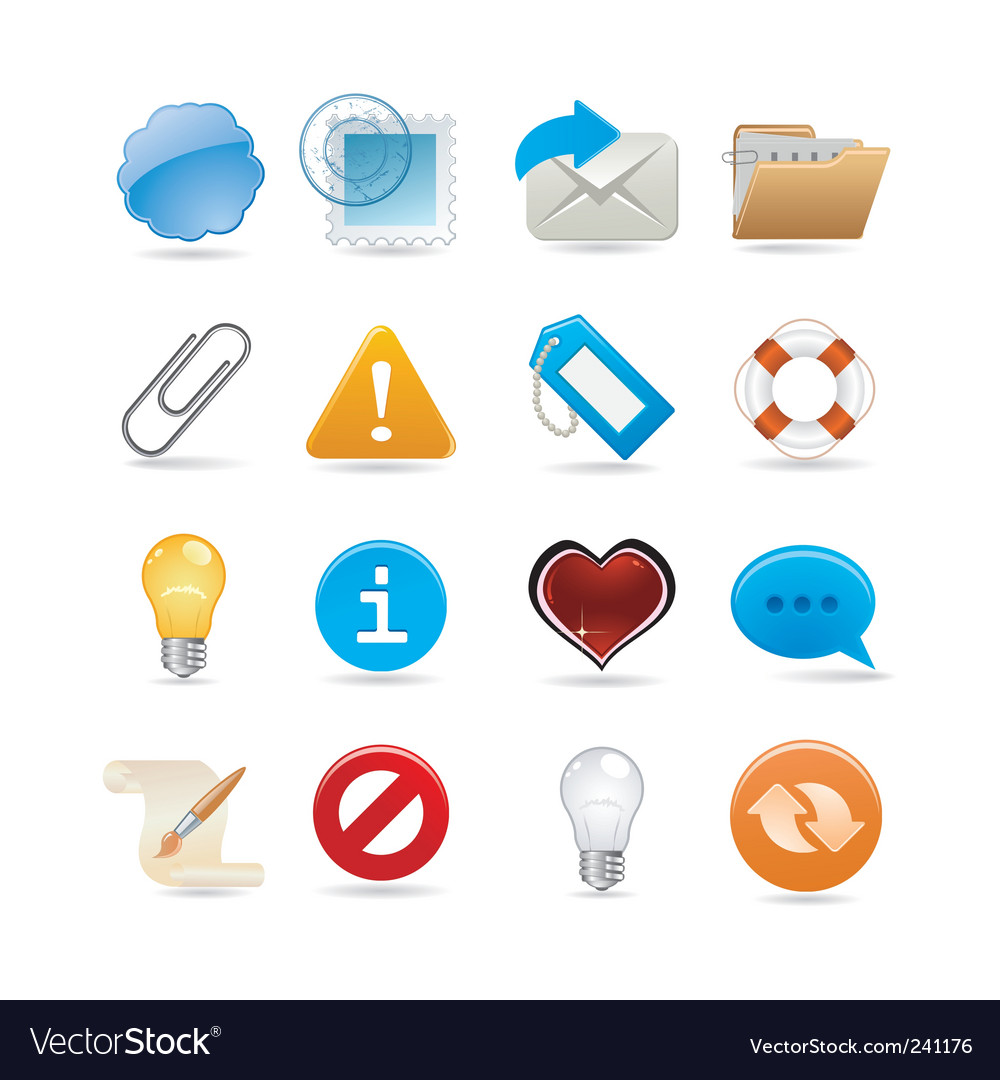 Sixteen universal icons vector | Price: 3 Credit (USD $3)