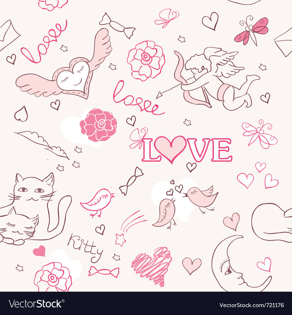 Valentine pattern vector | Price: 1 Credit (USD $1)