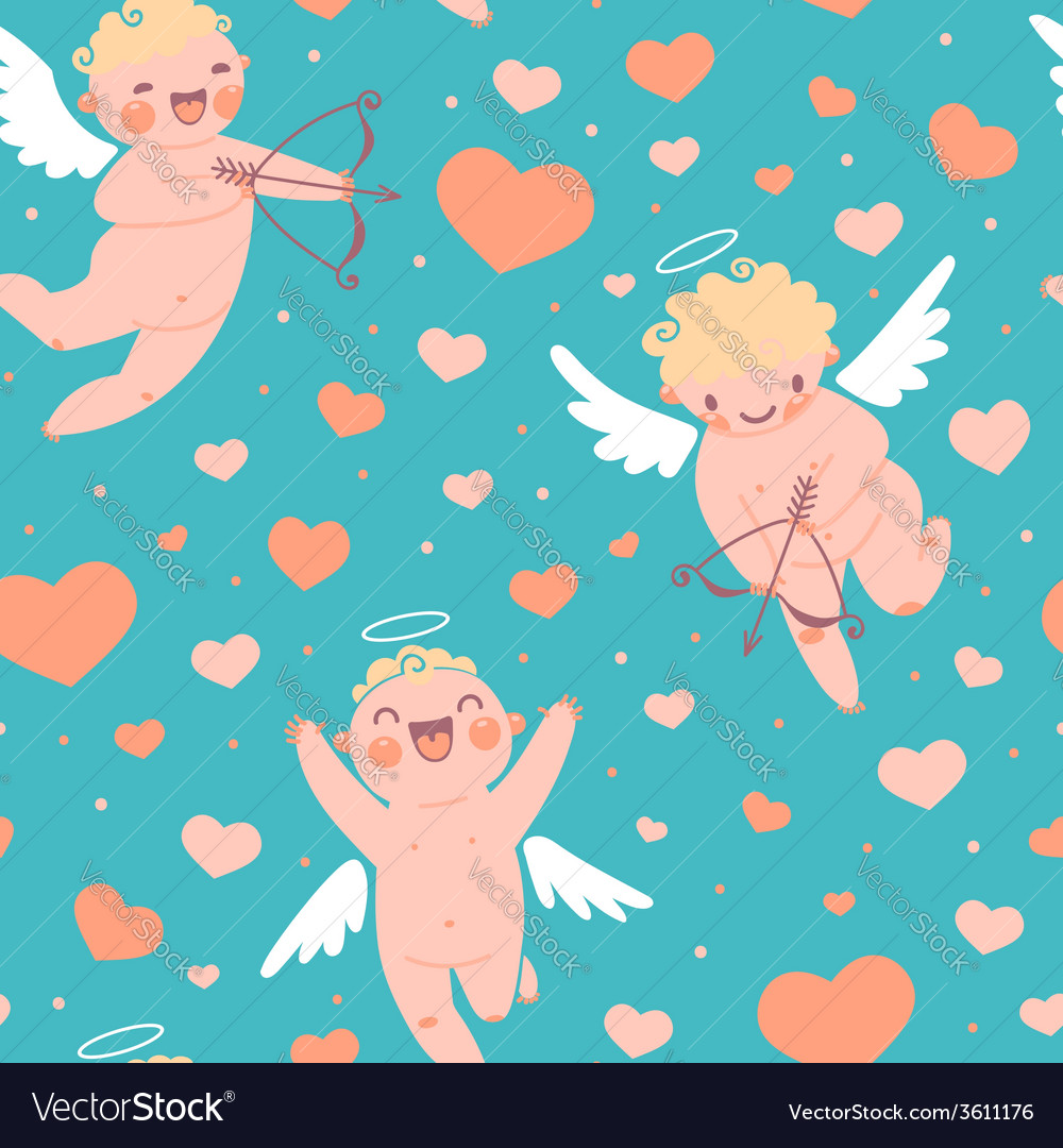 Valentines day romantic seamless pattern with cute vector | Price: 1 Credit (USD $1)