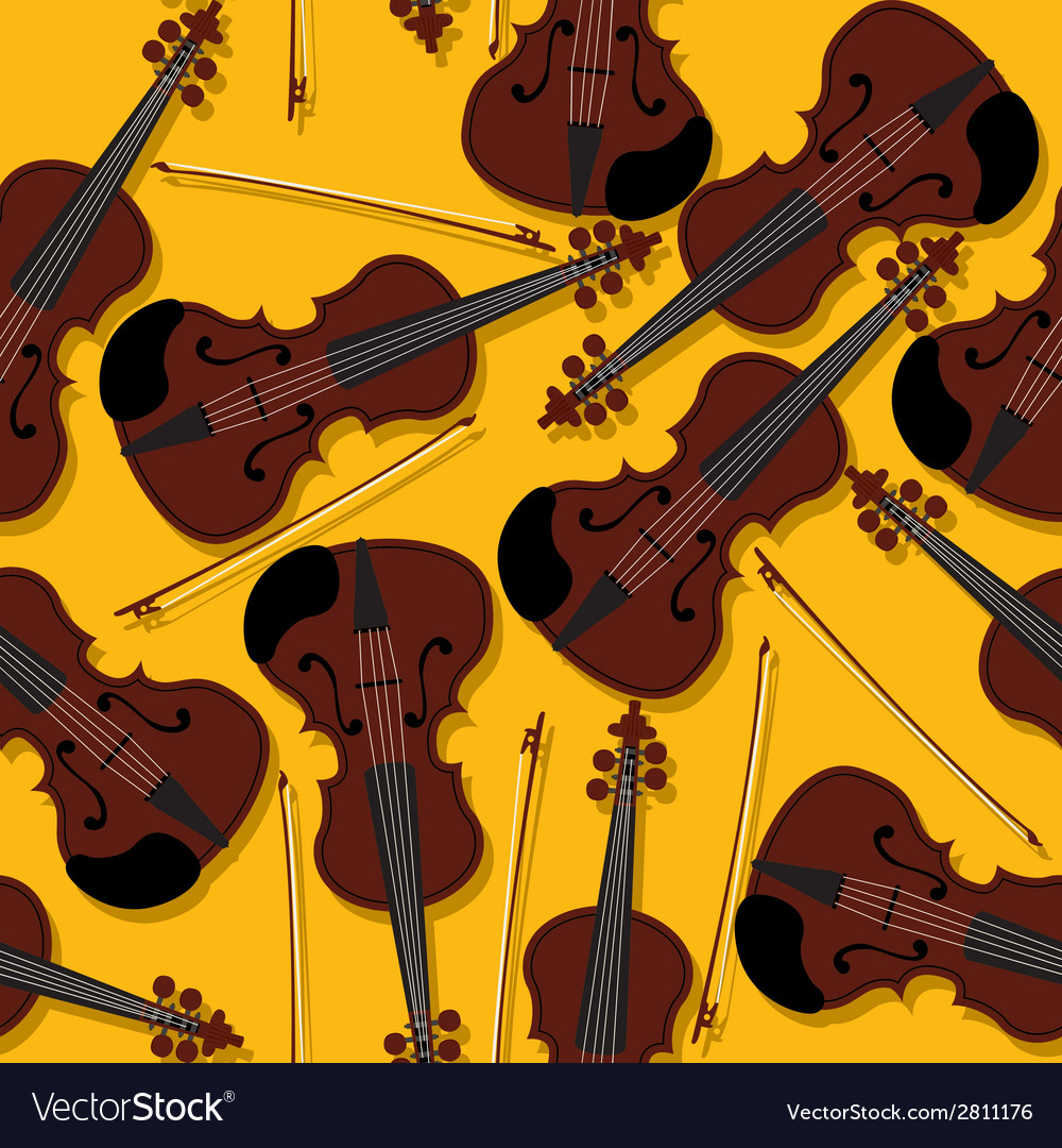 Violins and bow pattern vector | Price: 1 Credit (USD $1)