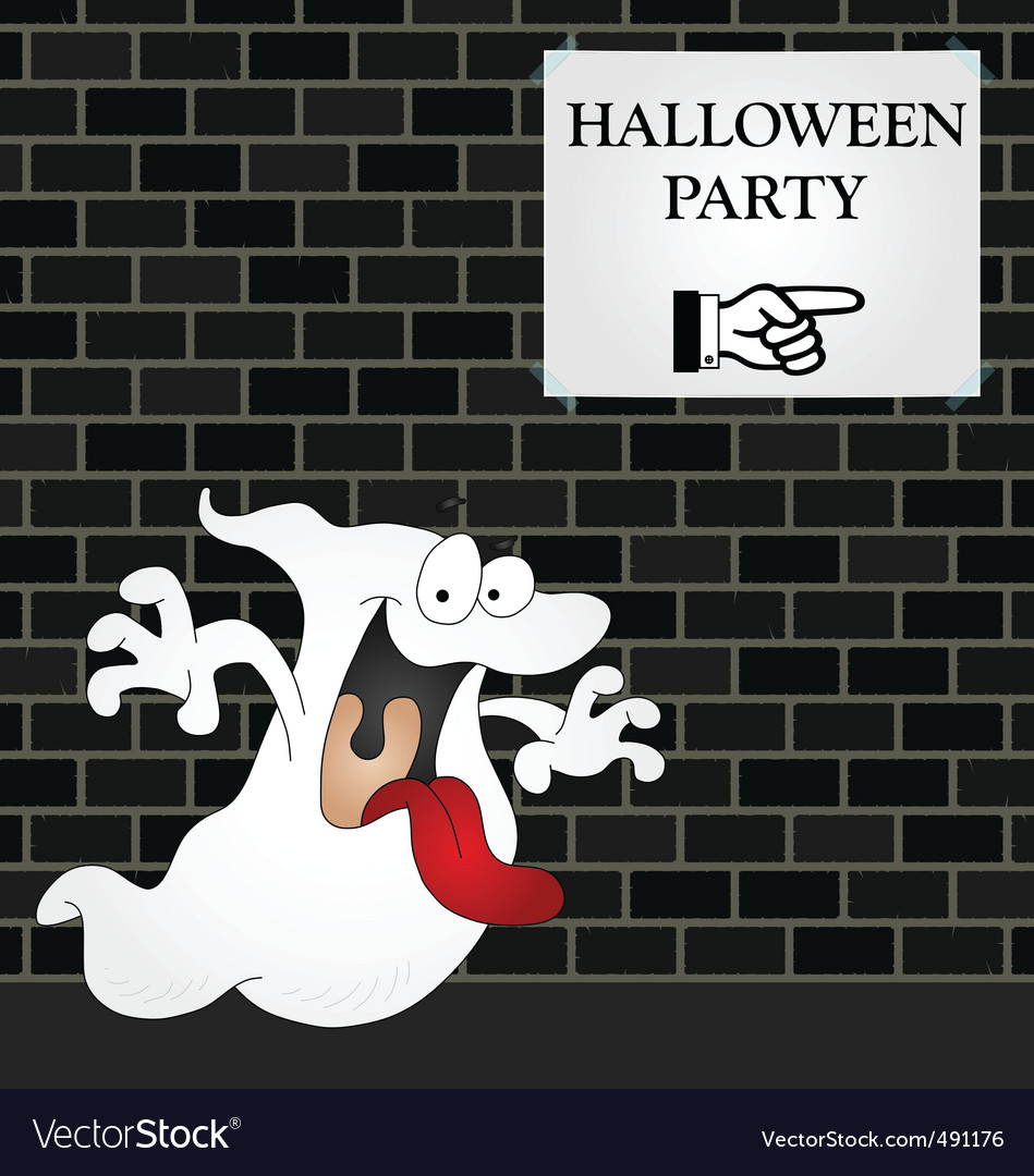 Wall halloween party vector | Price: 1 Credit (USD $1)