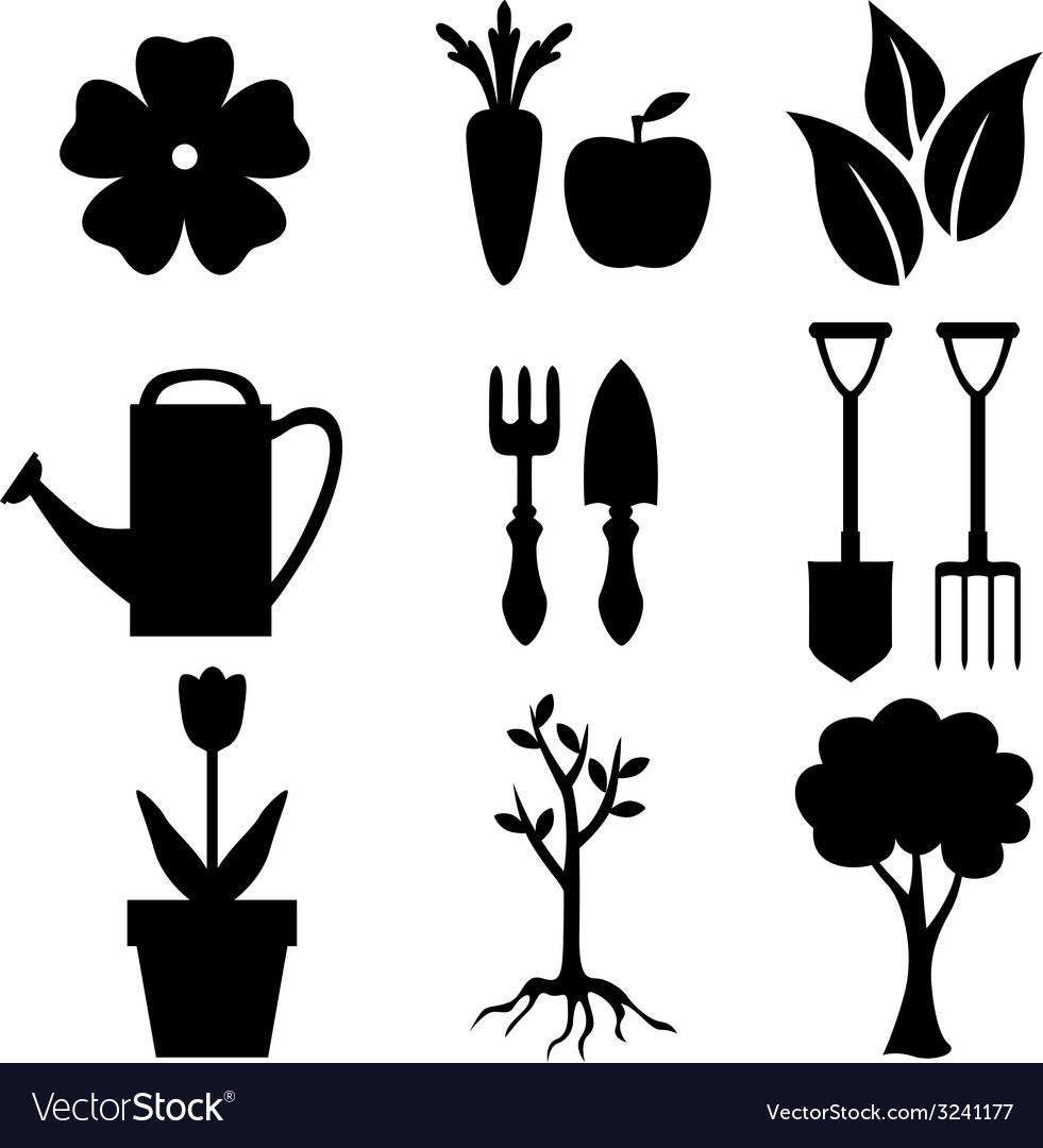 Agro silhouette vector | Price: 1 Credit (USD $1)