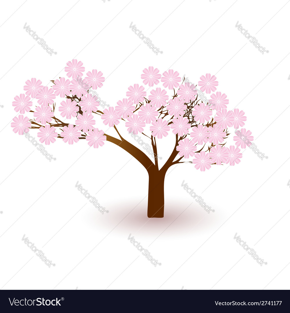 Blossoming tree vector | Price: 1 Credit (USD $1)