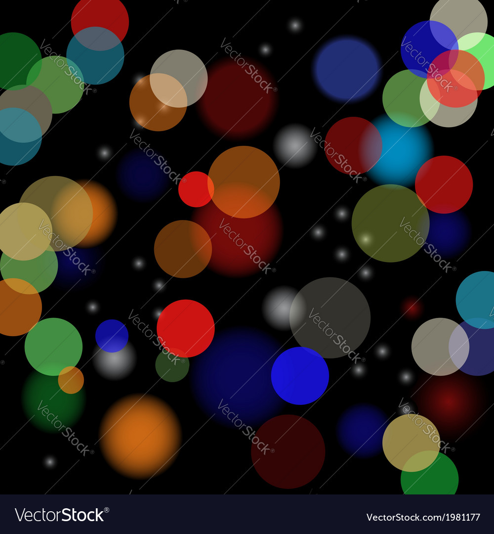 Blurred lights vector | Price: 1 Credit (USD $1)