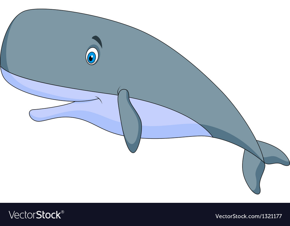 Cute sperm whale cartoon vector | Price: 1 Credit (USD $1)