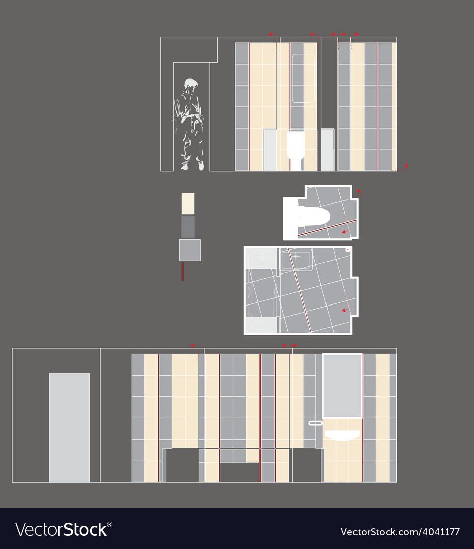 Drawing room walls vector | Price: 1 Credit (USD $1)