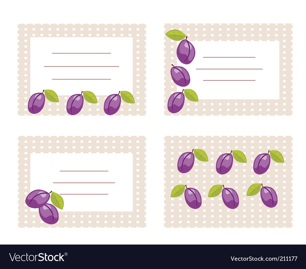 Fruit card vector | Price: 1 Credit (USD $1)