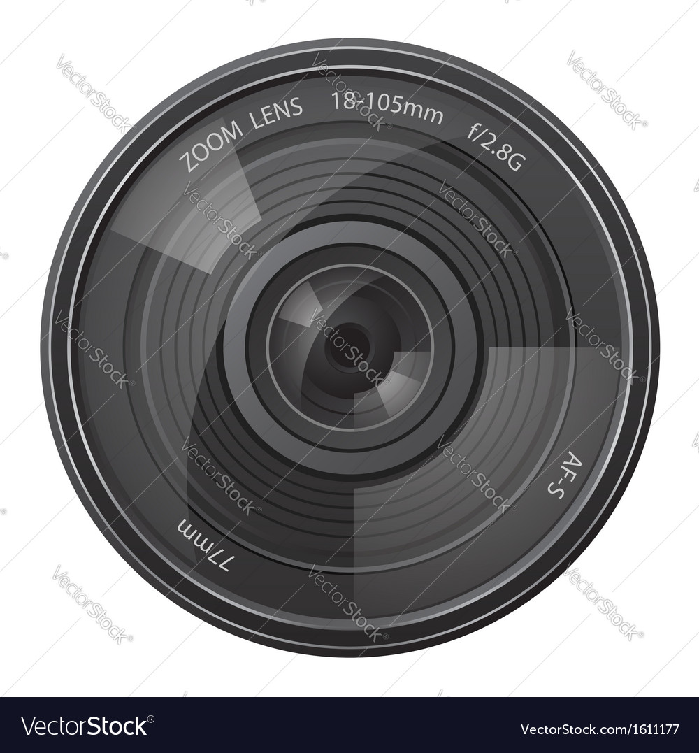 Lens photo camera vector | Price: 1 Credit (USD $1)