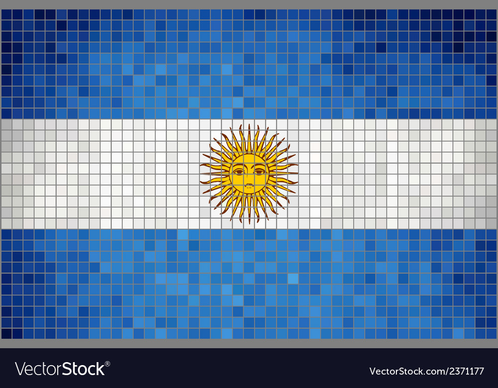 Mosaic flag of argentina vector | Price: 1 Credit (USD $1)