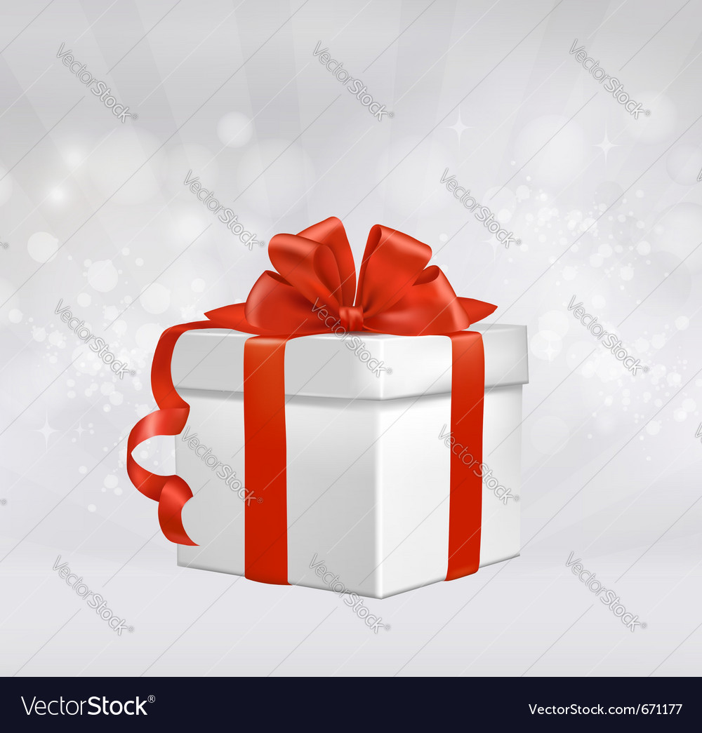 Red gift box with red ribbons vector | Price: 1 Credit (USD $1)