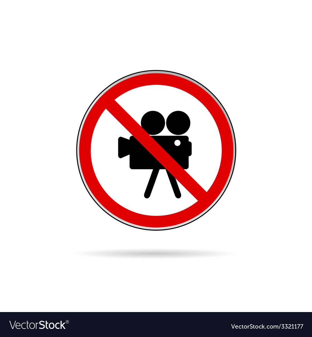 Sign for no camera color vector | Price: 1 Credit (USD $1)