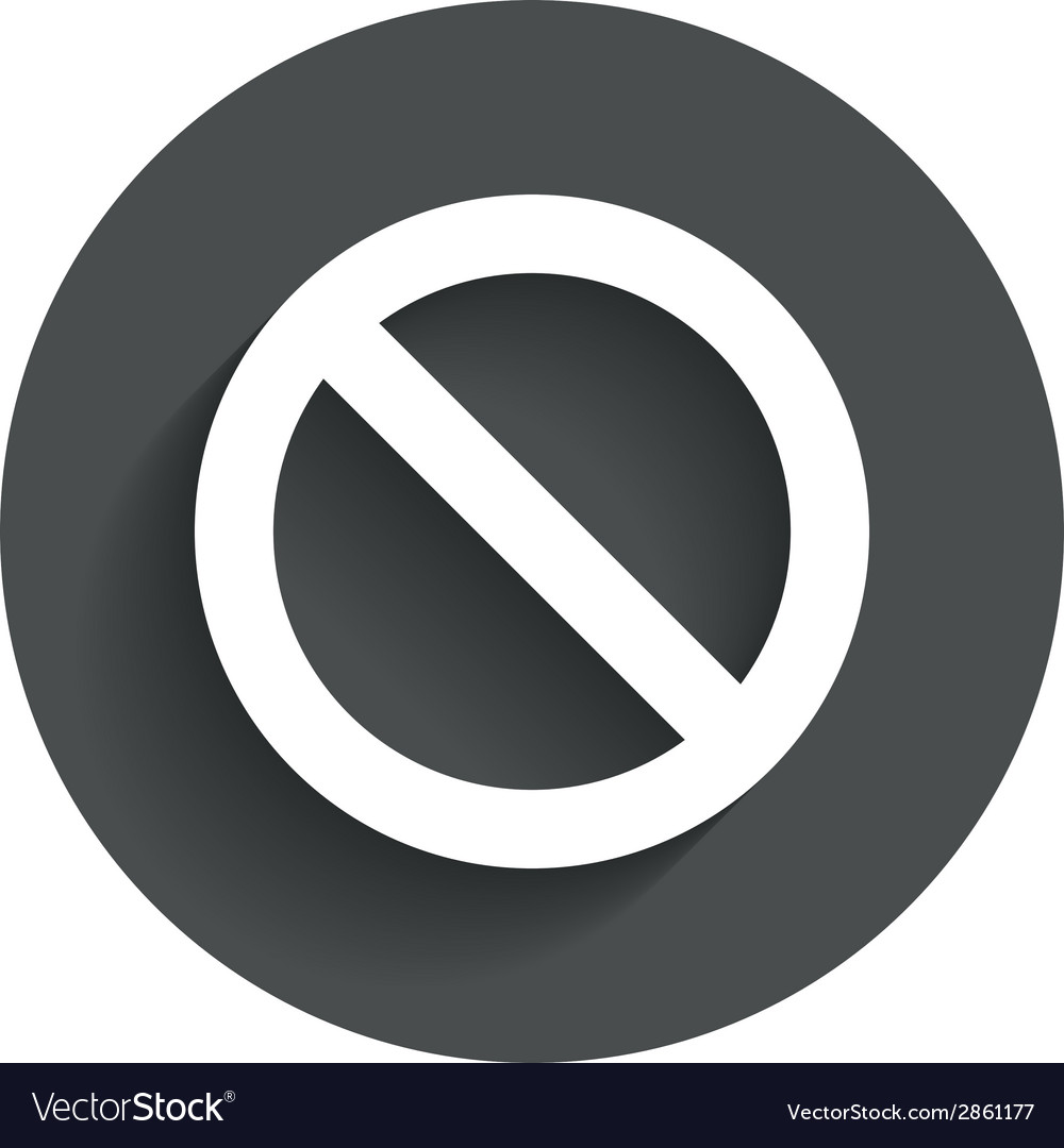 Stop sign icon prohibition symbol vector | Price: 1 Credit (USD $1)