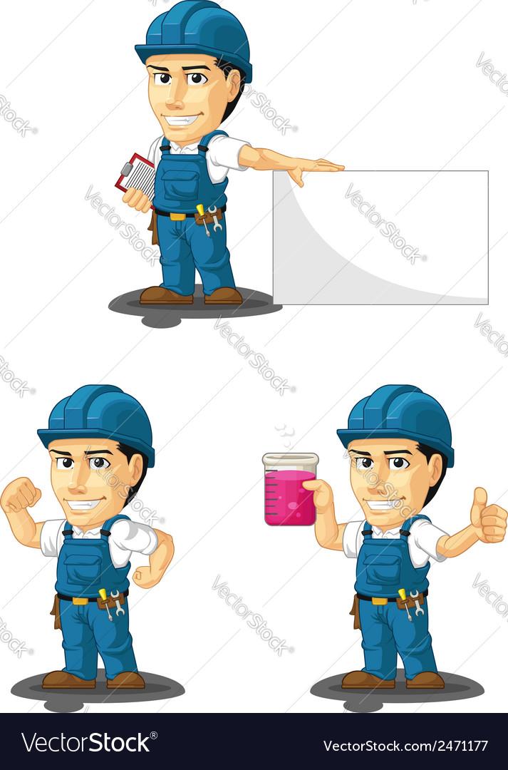 Technician or repairman mascot 6 vector | Price: 1 Credit (USD $1)