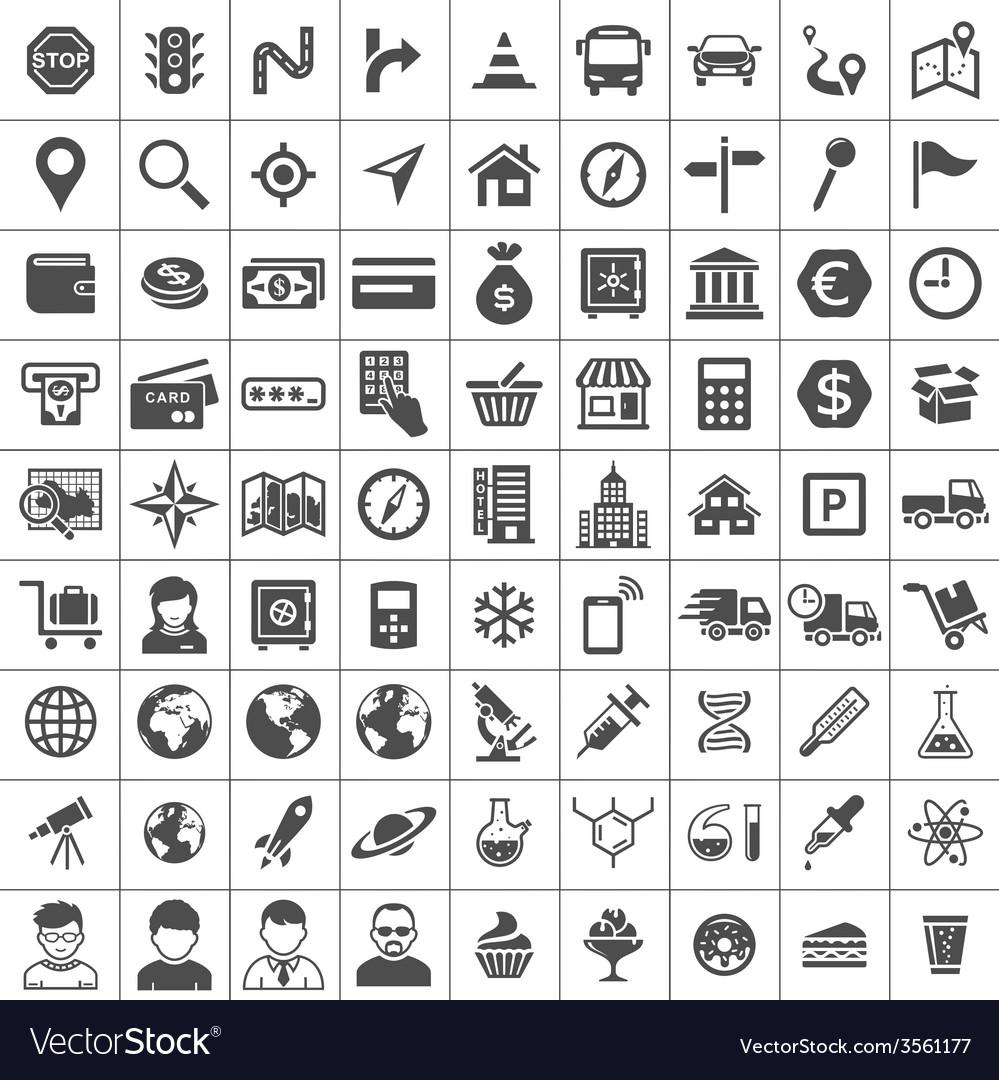 Universal icons vector | Price: 1 Credit (USD $1)