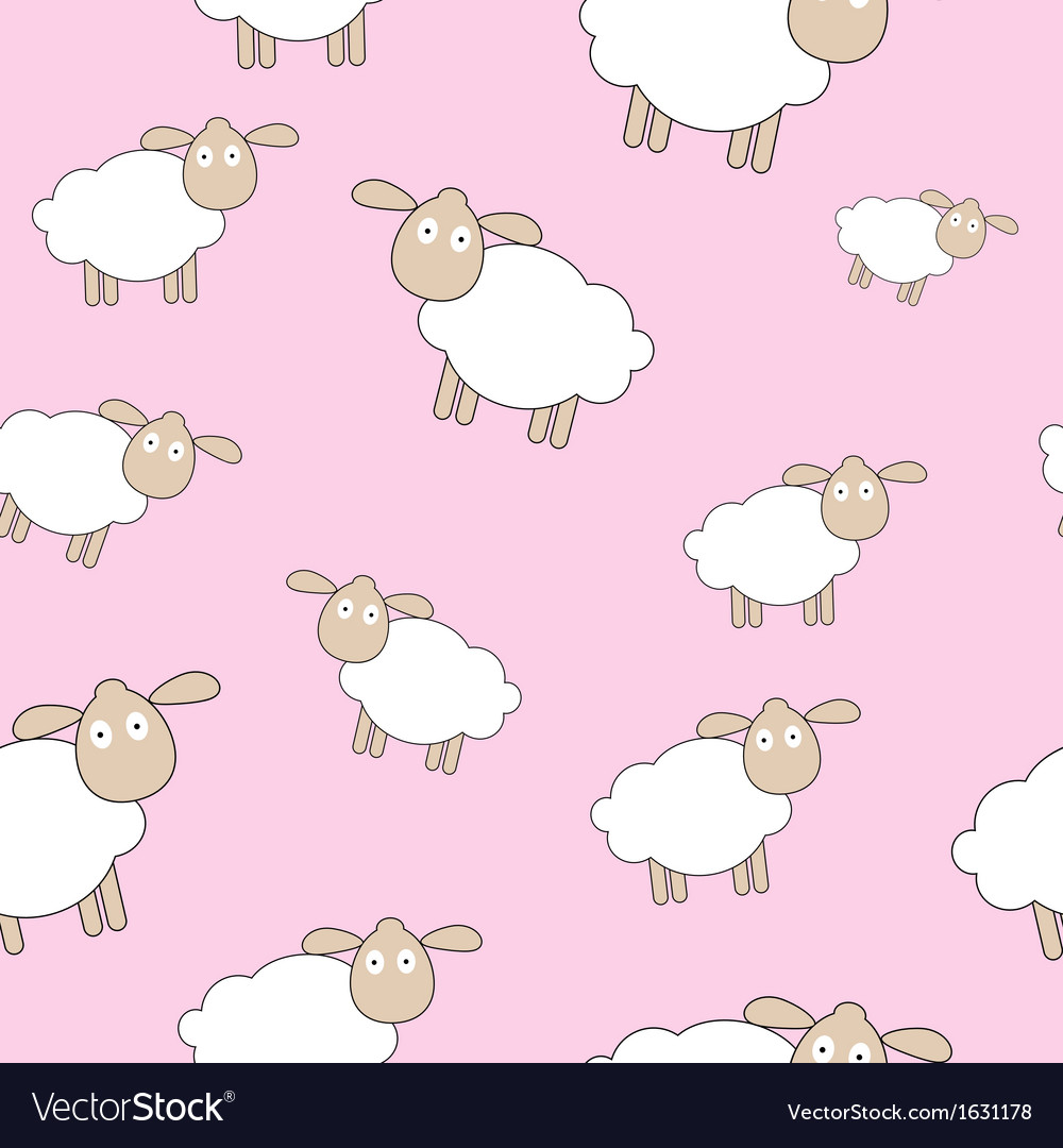 Abstract lamb seamless pattern background vector | Price: 1 Credit (USD $1)