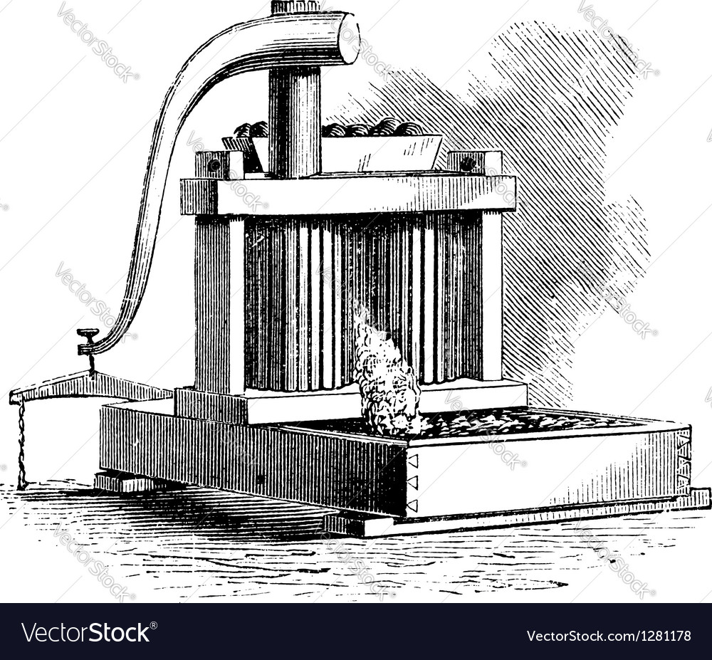 Cider mill vintage engraving vector | Price: 1 Credit (USD $1)