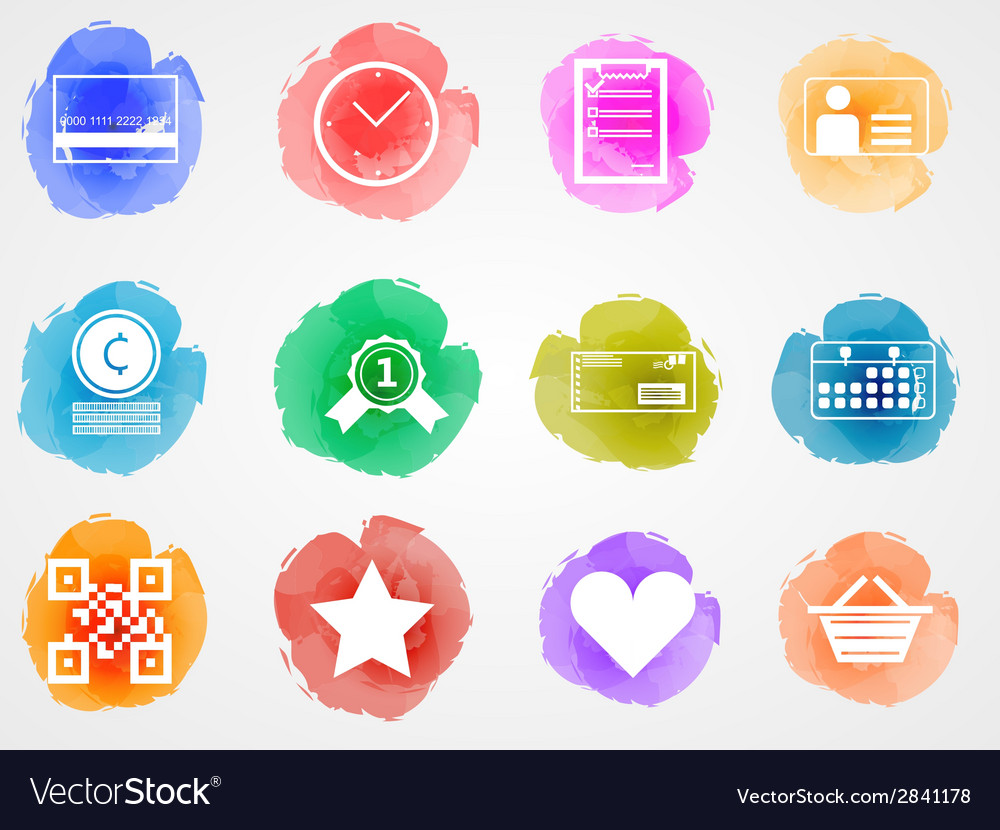 Creative colored icons for internet retail vector | Price: 1 Credit (USD $1)
