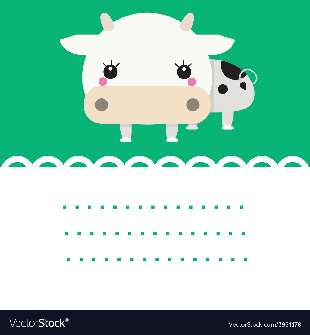 Cute friendly cow vector | Price: 1 Credit (USD $1)