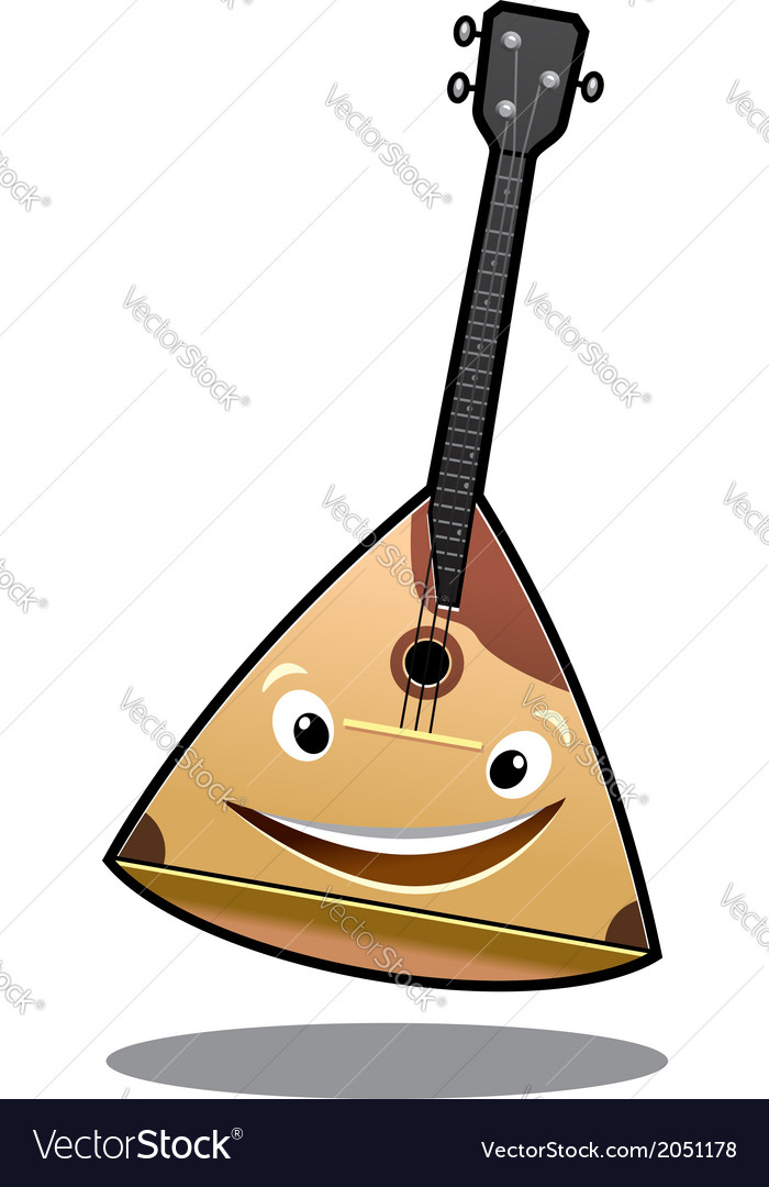 Happy cartoon balalaika vector | Price: 1 Credit (USD $1)
