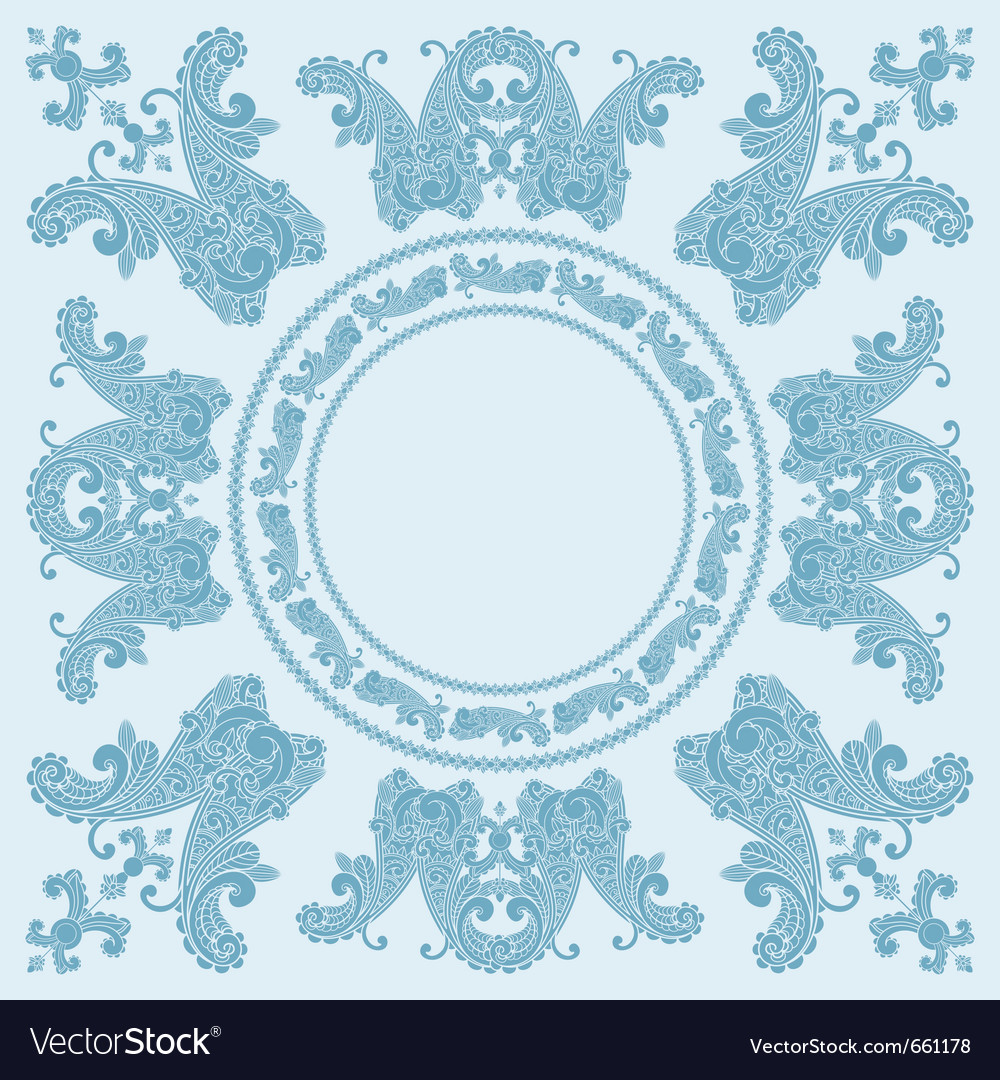 Paisley boarder pattern vector | Price: 1 Credit (USD $1)