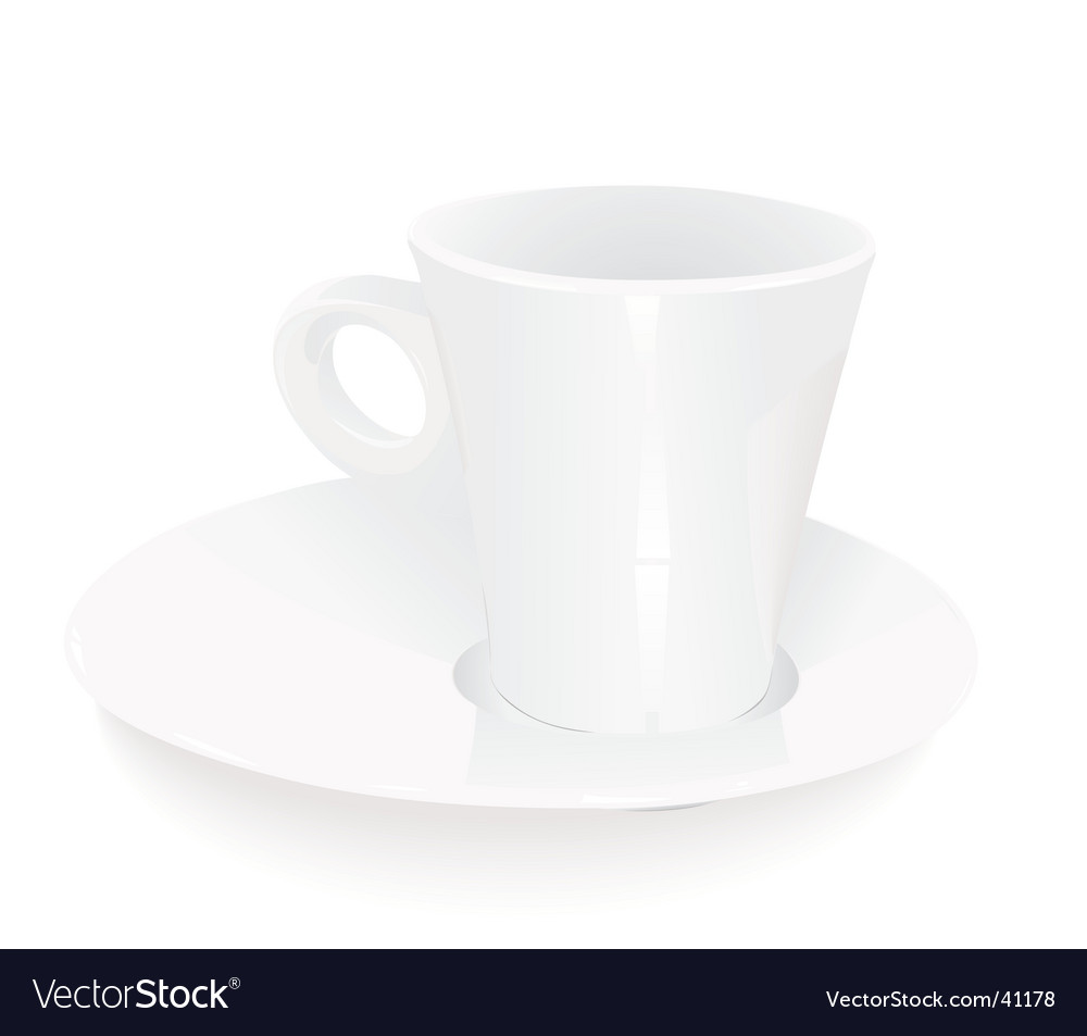 Porcelain coffee cup vector | Price: 1 Credit (USD $1)