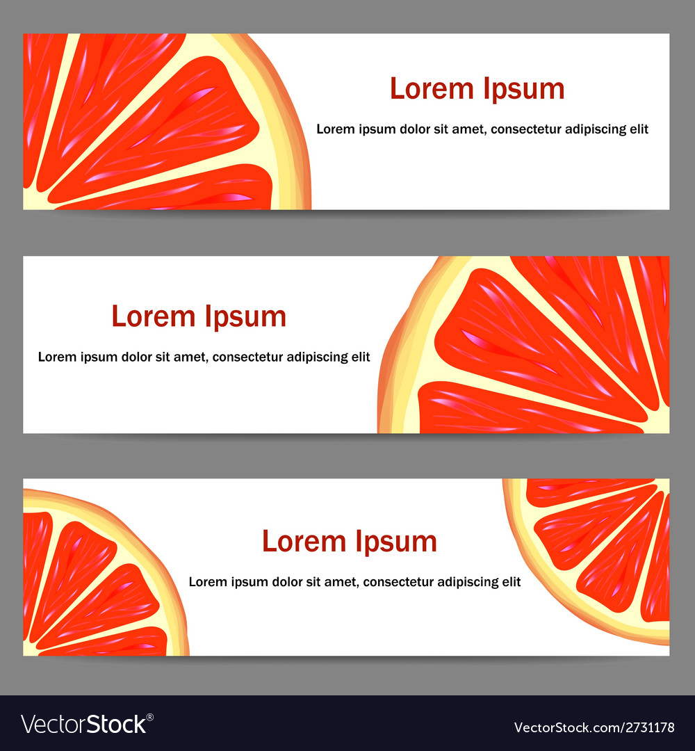 Set of banners with oranges vector | Price: 1 Credit (USD $1)