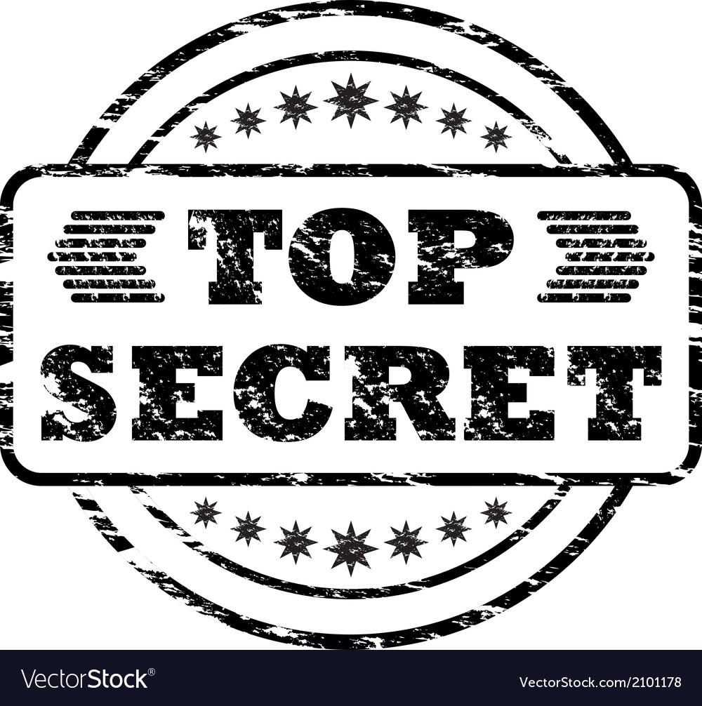 Top secret damaged stamp vector | Price: 1 Credit (USD $1)