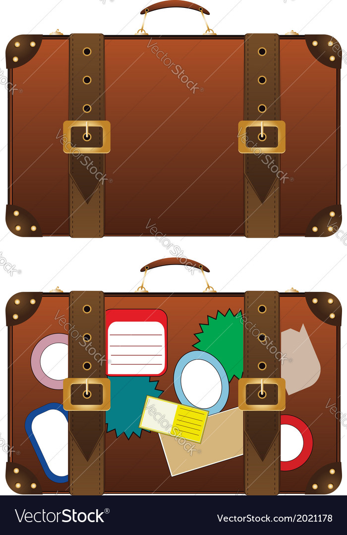 Traveling suitcase vector | Price: 1 Credit (USD $1)