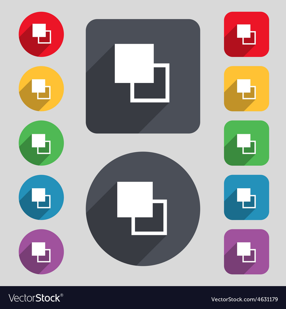 Active color toolbar icon sign a set of 12 colored vector | Price: 1 Credit (USD $1)