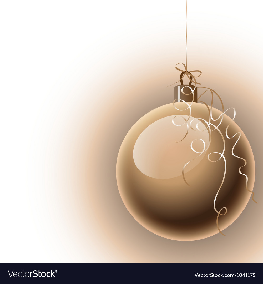 Christmas background with ball vector | Price: 1 Credit (USD $1)