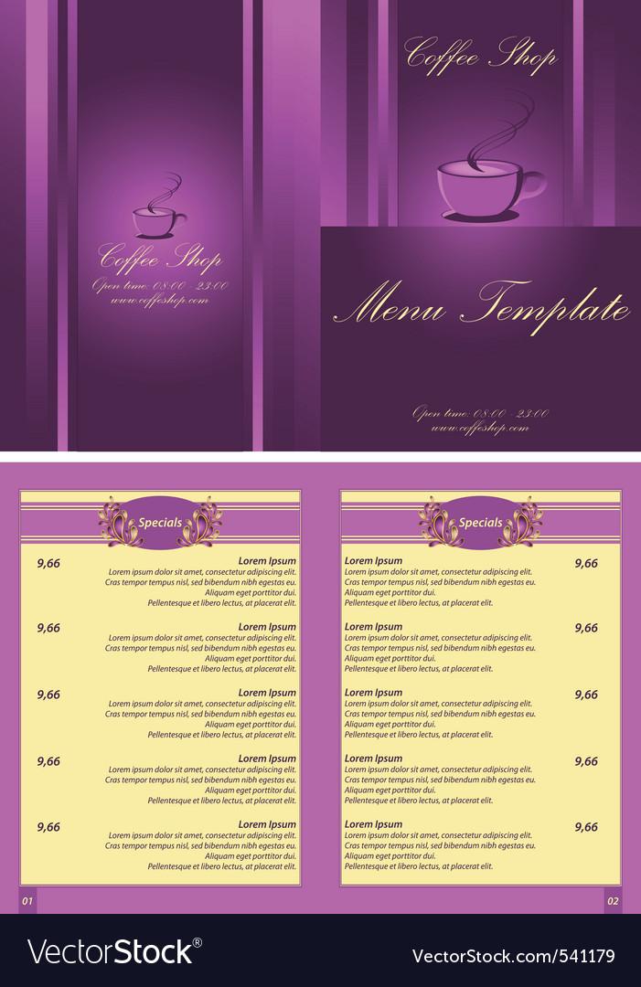 Coffee shop menu template vector | Price: 1 Credit (USD $1)