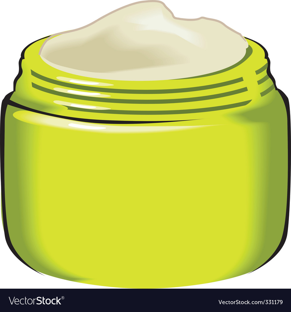 Cream container vector | Price: 1 Credit (USD $1)