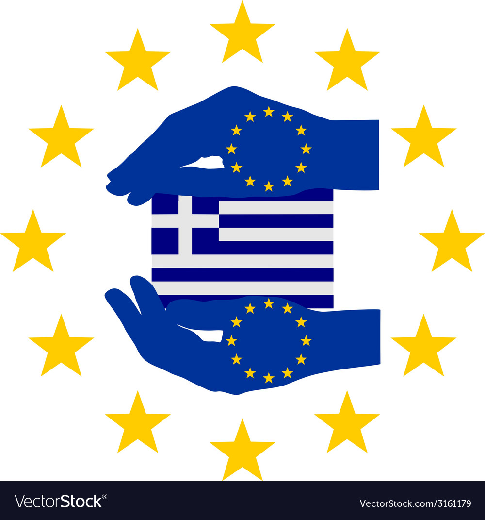 European help for greece vector | Price: 1 Credit (USD $1)