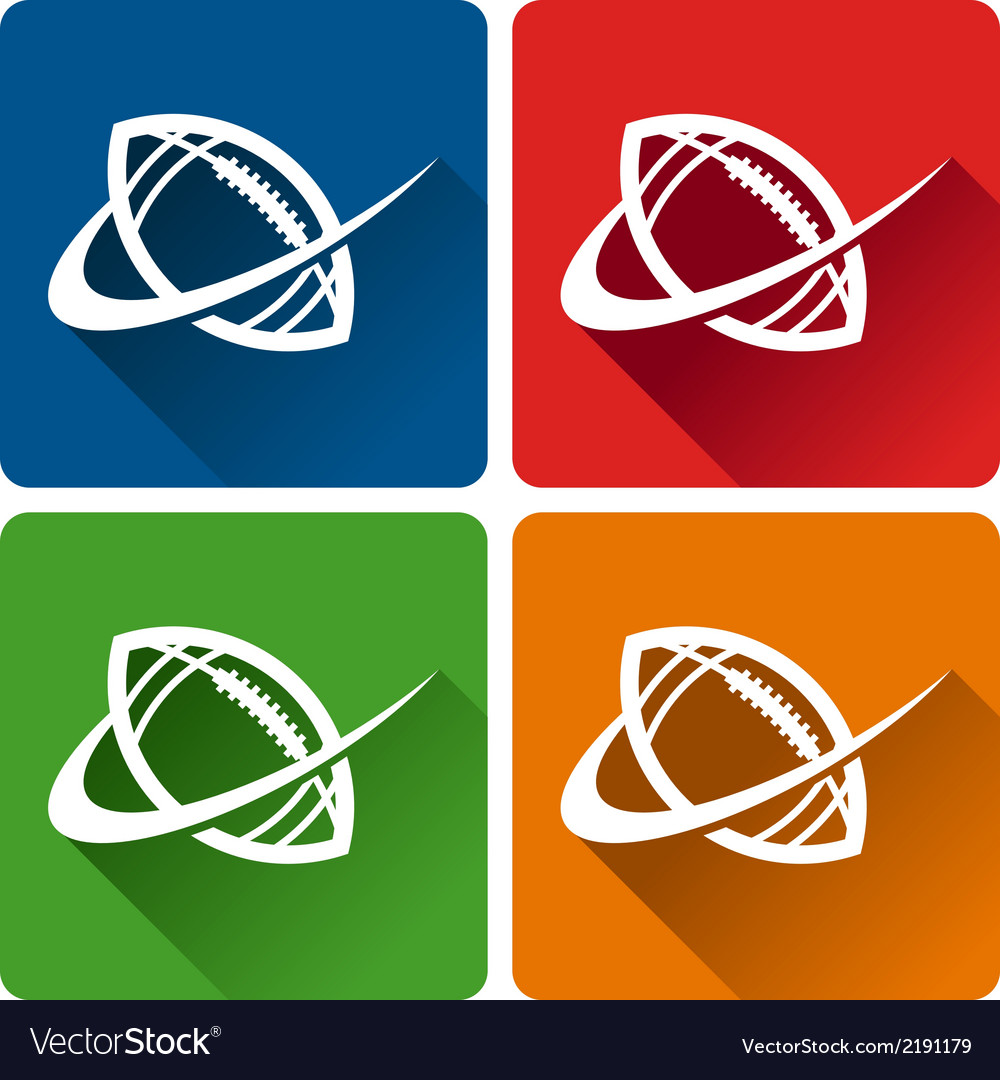 Football logo icons vector | Price: 1 Credit (USD $1)