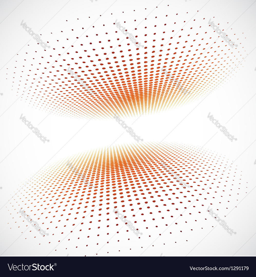 Halftone circle on gray background vector