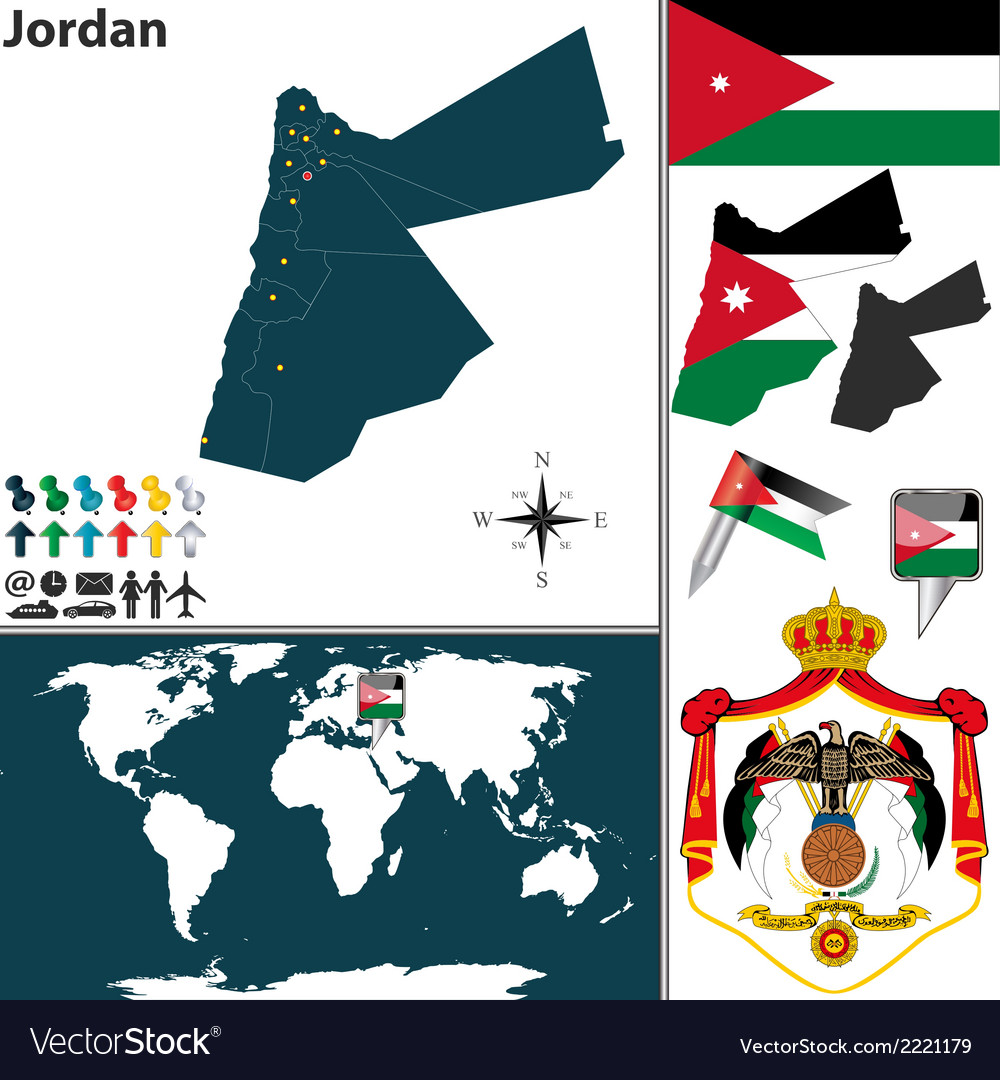 Jordan map vector | Price: 1 Credit (USD $1)