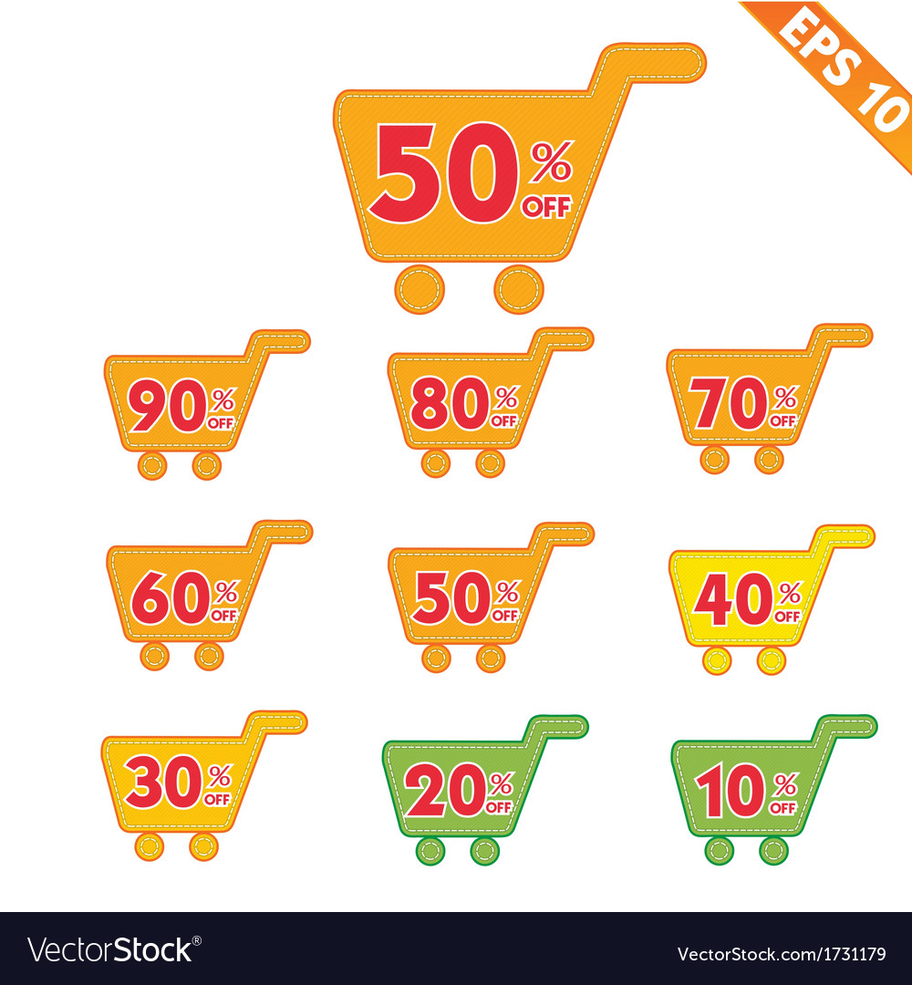 Label stitch template sale shopping cart tag - vector | Price: 1 Credit (USD $1)