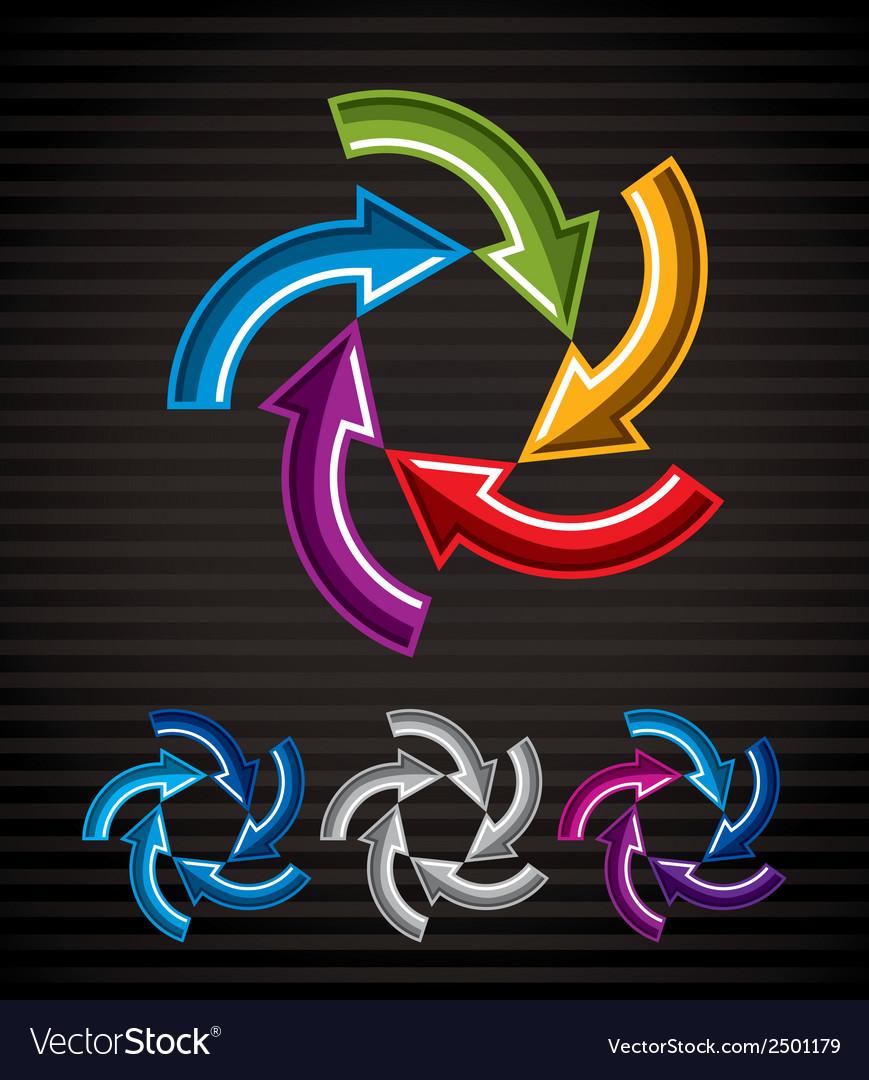 Looping arrows abstract symbol conceptual special vector | Price: 1 Credit (USD $1)