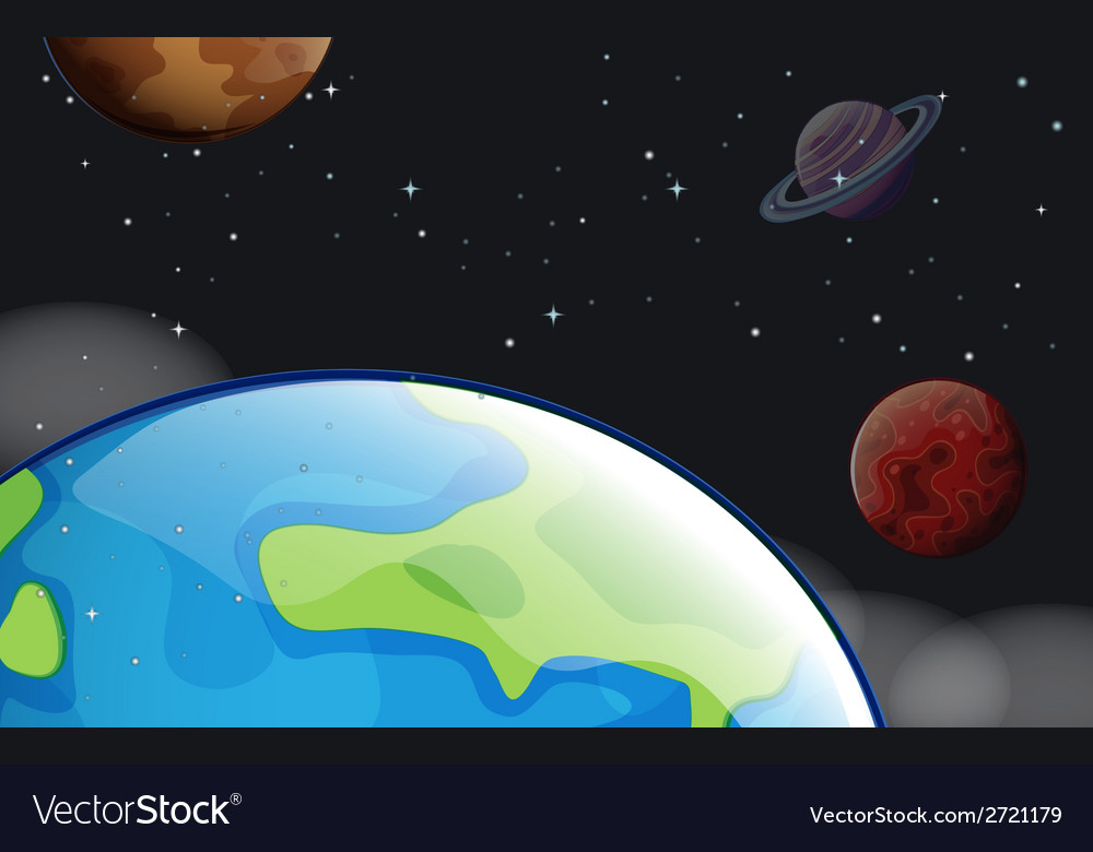 Planets in the outerspace vector | Price: 1 Credit (USD $1)