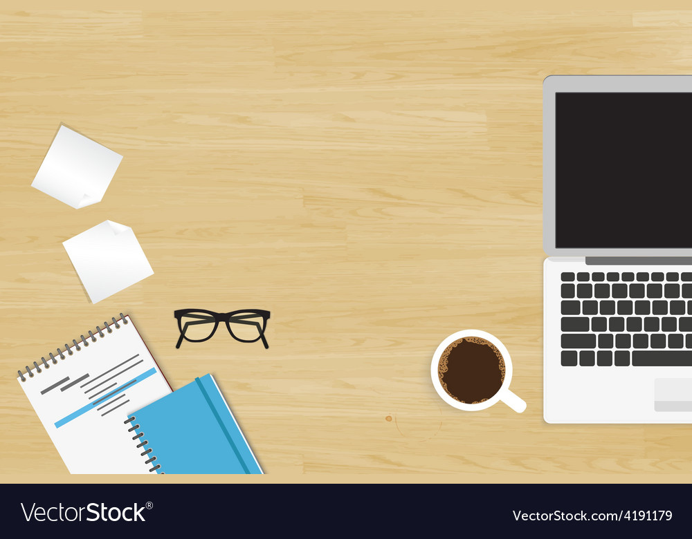 Realistic workplace vector | Price: 1 Credit (USD $1)
