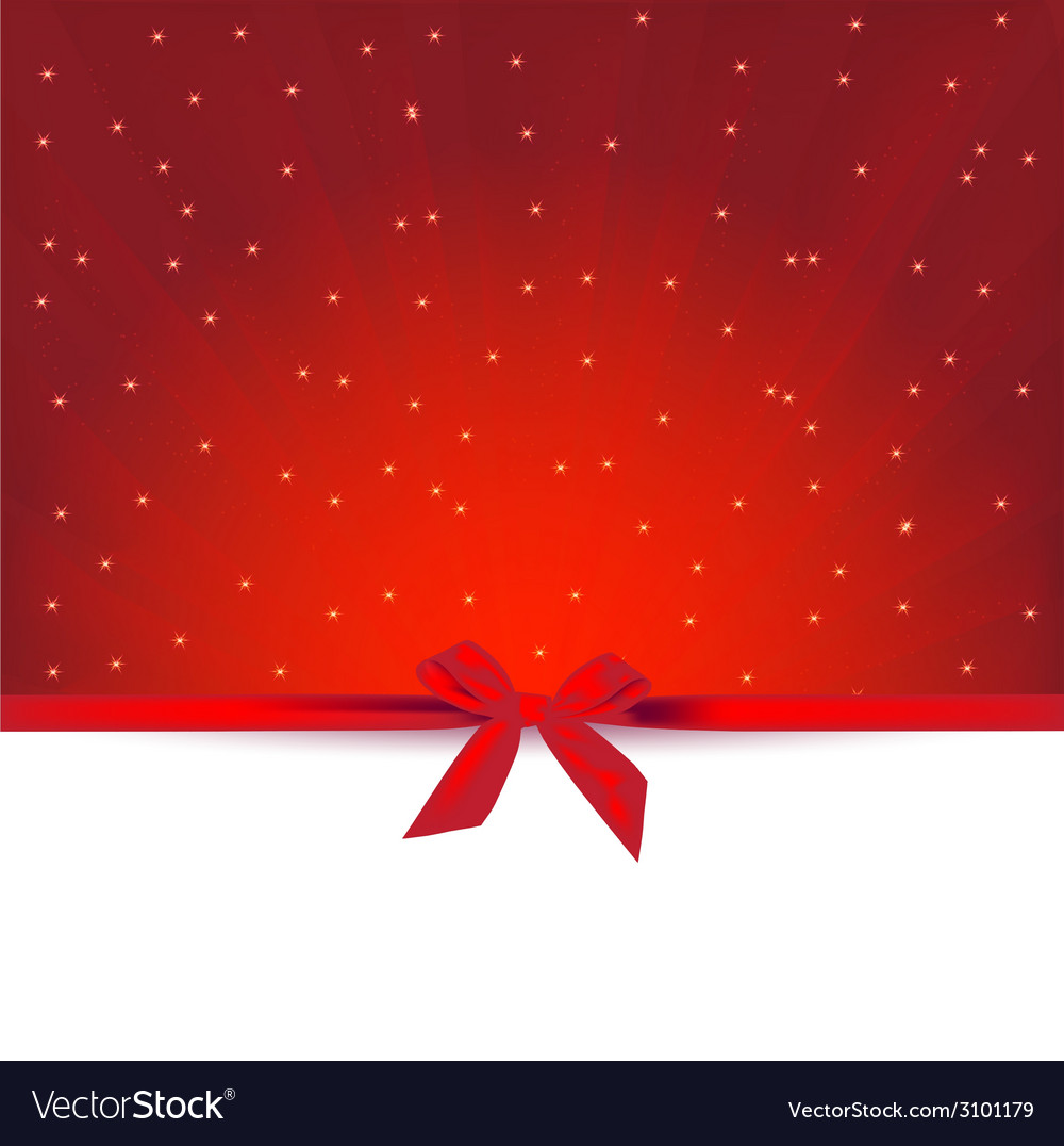 Red gift greeting card vector | Price: 1 Credit (USD $1)