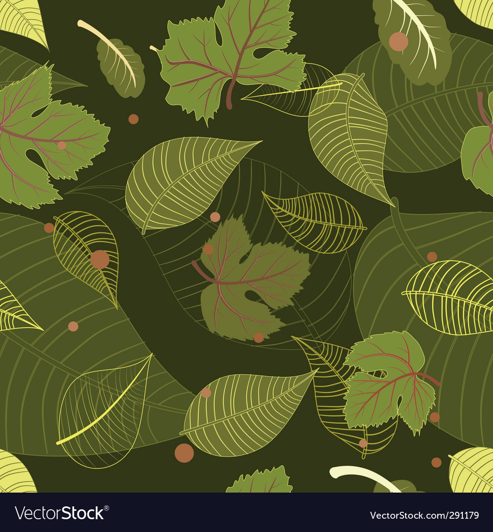 Seamless background from the leaves vector | Price: 1 Credit (USD $1)