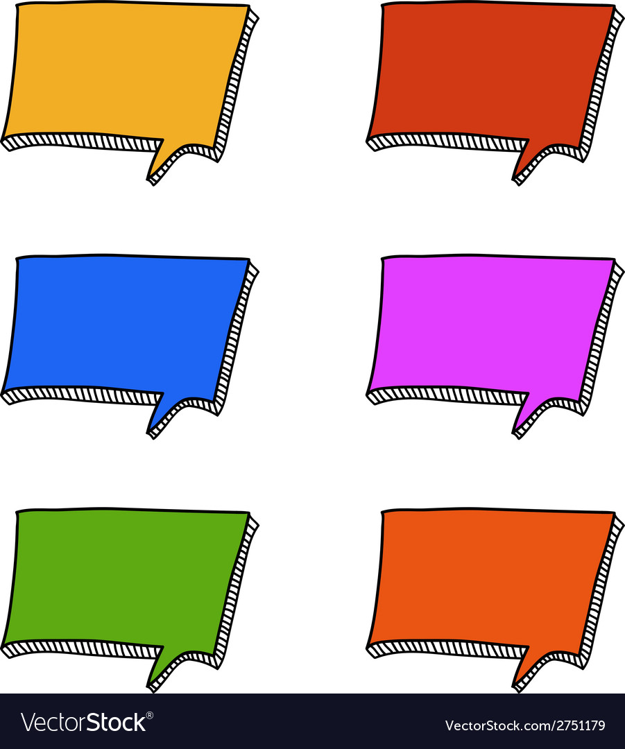 Square doodle speech bubbles vector | Price: 1 Credit (USD $1)