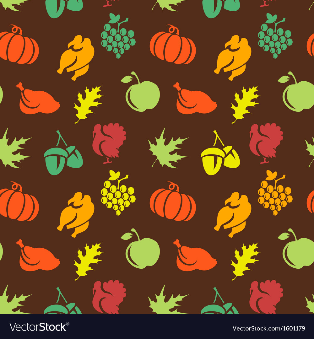 Thanksgiving seamless pattern vector | Price: 1 Credit (USD $1)