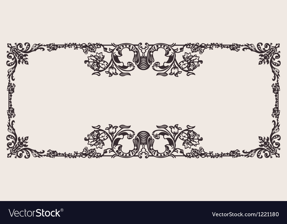 Antique ornate frame scalable and editable vector | Price: 1 Credit (USD $1)