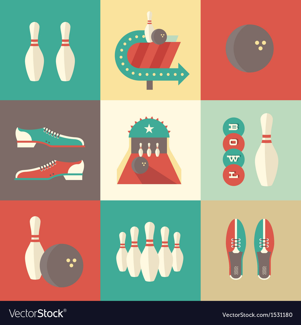 Bowling icons vector | Price: 3 Credit (USD $3)