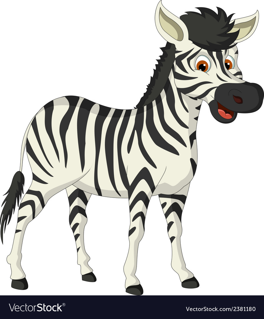 Cute zebra cartoon vector | Price: 1 Credit (USD $1)
