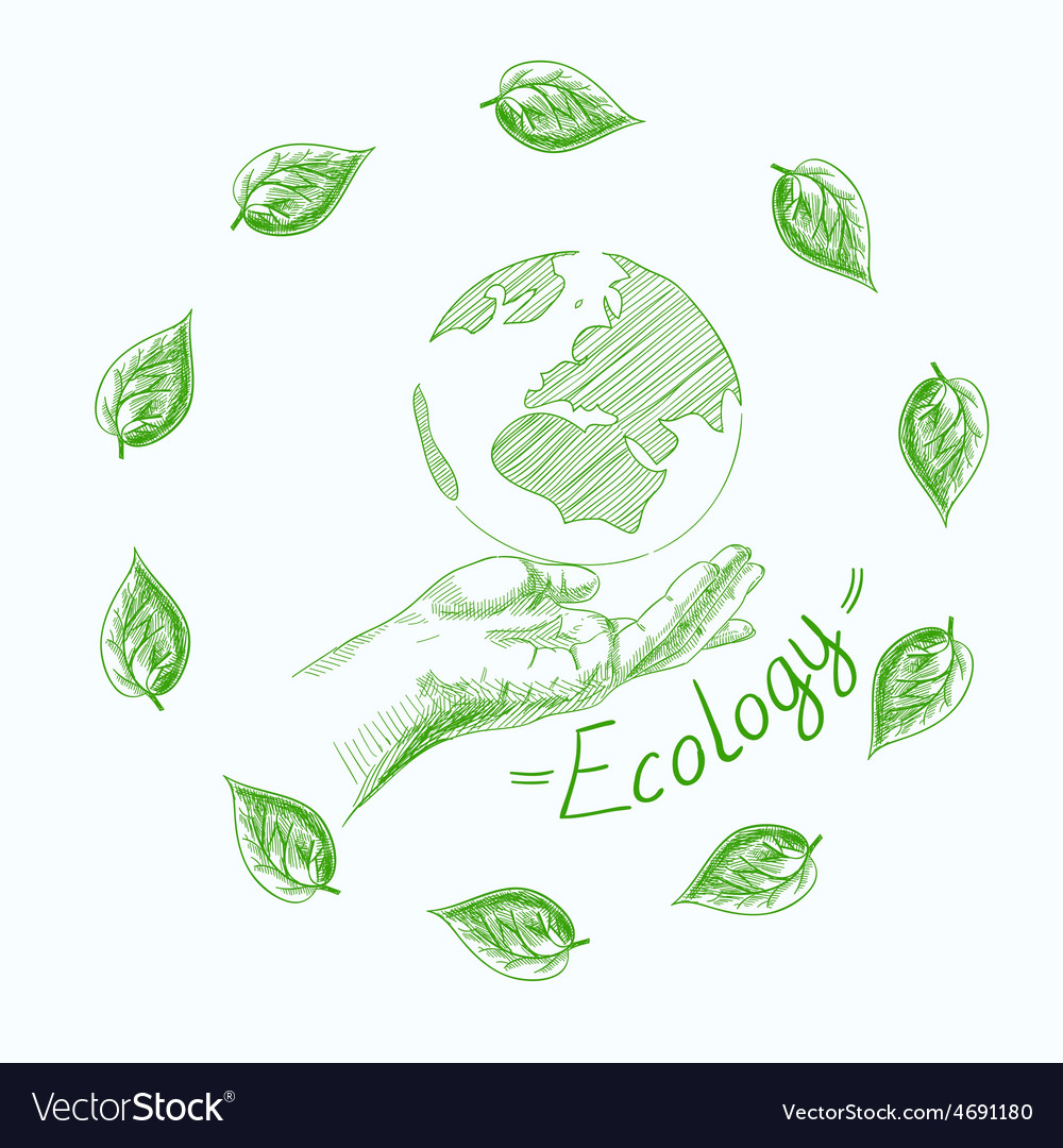 Earth globe in human hands planet protection care vector   Price: 1 Credit (USD $1)