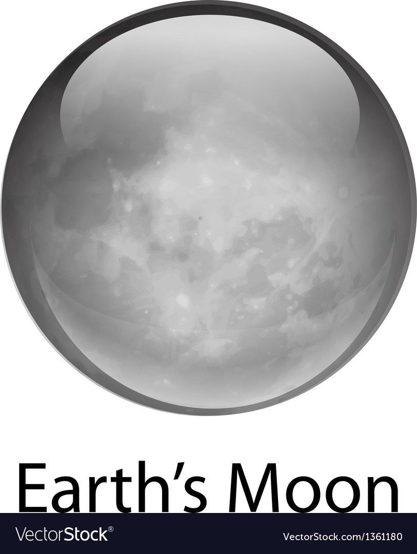 Earth moon vector | Price: 1 Credit (USD $1)