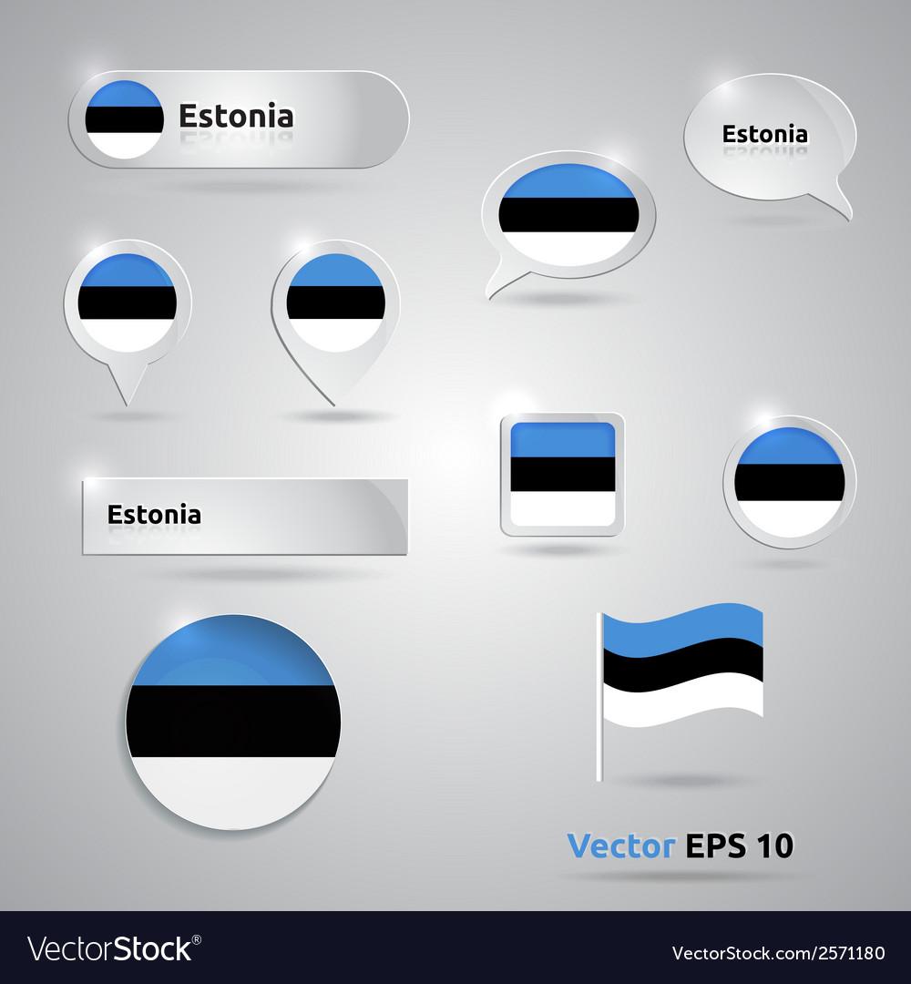 Estonia icon set of flags vector | Price: 1 Credit (USD $1)